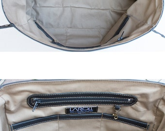 MELINA leather messenger bag INTERIOR design and lining - For VIEW only