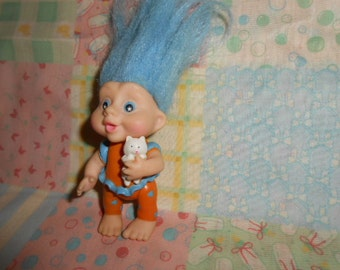 1991 Applause Baby Troll With Kitten