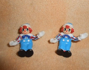 Raggedy Andy 1988 Cake Toppers