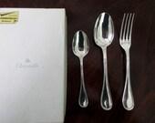 Christofle Boxed Vintage French Silver Plate - Cutlery Set - Flatware set - Set of 3 - Fully Hallmarked - Inscribed JULIE