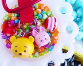 tsum tsum pooh & piglet / backpack clip / charm keychain