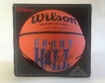 Vintage New Old Stock 1990s GRANT HILL Wilson Official NBA Basketball