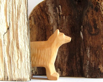 Primitive Art, Woodcarving, Carved Wolf, Wooden Wolf, Wooden sculpture, Wood Art, Naive Art, Carved Animals