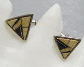Vintage Sterling Cufflinks Calvin Begay Jewelry H776