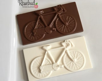 12 Chocolate Bicycle Bar Favors Bike Birthday Party Cyclist Transportation Sweets Candy Bar