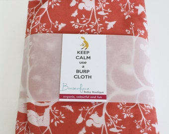 Organic Burp Cloth Set of Two / Vine and Lily