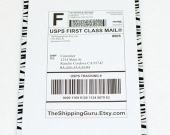 100 6x9 Zebra Poly Mailers
