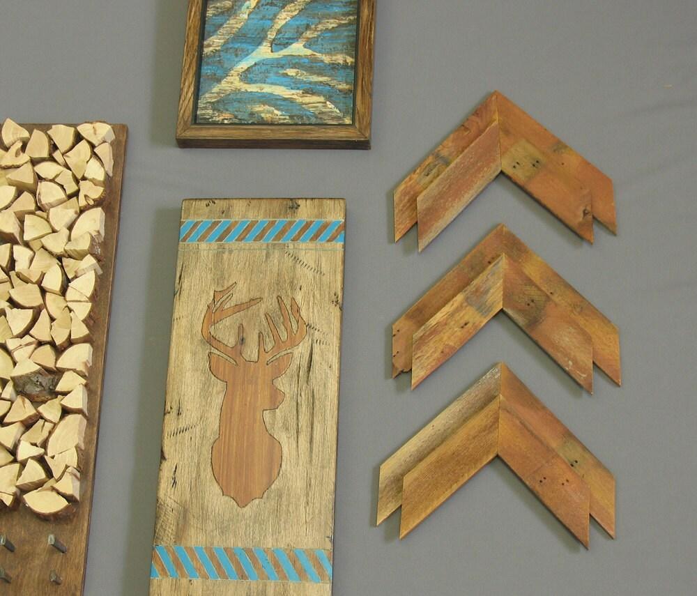 Set Of 3 Reclaimed Wood Arrows Arrowheads Modern Rustic