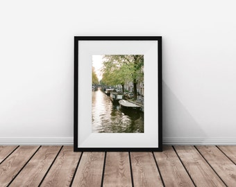 Amsterdam / Boat / Canal / Instant Download / Film Photography / Pic of Europe / Photo of Amsterdam / Digital Download / Amsterdam's / Pic