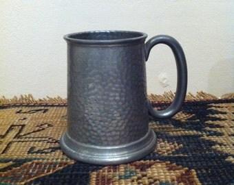 Vintage Pewter Tankard, Sheffield pewter, English Tankard mug Beer stein, Made in England,