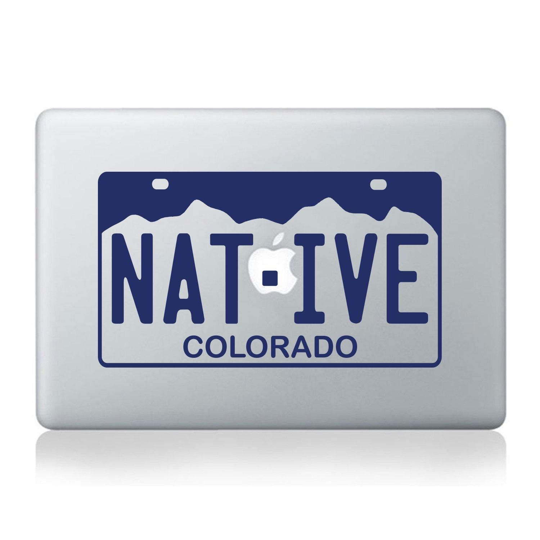 Colorado Native License Plate Vinyl Decal Fits Laptops Car
