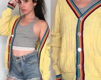 70's Rainbow Cardigan