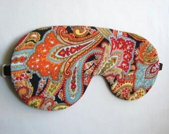 Paisley Sleep Mask, Adjustable sleeping mask, Paisley Eye Mask, Sleep Mask