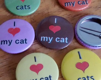 Pin button badges in bulk. 2.5cm or 5.8cm Customize. Choose your word, colour and size. I heart <3
