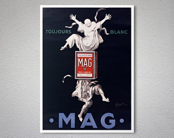 Toujours Blanc Flocons MAG Vintage Entertainment  Poster by Leonetto Cappiello - Poster Paper, Sticker or Canvas Print