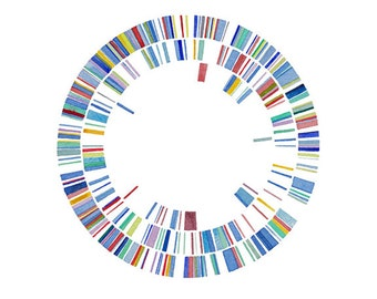 Plasmid 16, Science art, Watercolor, Watercolor Print, Science Illustration, DNA, microbiology, Print, Watercolor Paintings original
