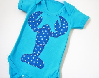 Lobster baby vest - baby clothes- trendy babygrow