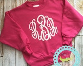 Monogram sweatshirt for girls, kids sweatshirt, Monogrammed Sweatshirt, Glitter Monogram Sweat shirt, Monogram Pullover, Monogrammed Gifts,