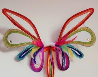 Rainbow bright fairylove fairy pixie wings