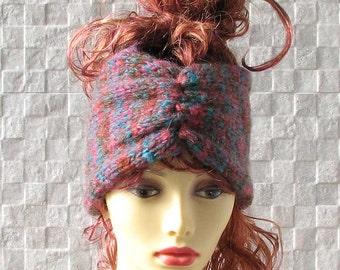 Soft Turban Ear Warmer Headband, Knit Headband, Turban Headband Ear Warmer, Knitted Ear Warmer, Knitted Head Band, Turban Style Headband