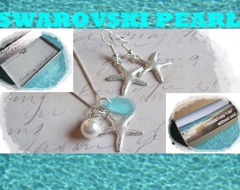 1 BEACH WEDDING JEWELRY sets ---- Starfish Earrings, Starfish Jewelry, Bridal Party, Bridesmaid Gift,  Bridesmaids Jewelry