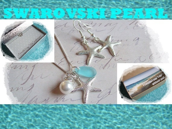 Bridal Party Jewelry Gift Sets : ... Starfish Jewelry, Bridal Party, Bridesmaid Gift, Bridesmaids Jewelry