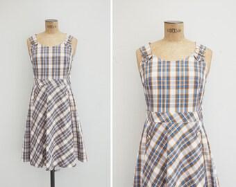 1960s Dress - Vintage 60s Plaid Dress - Patricia Dress