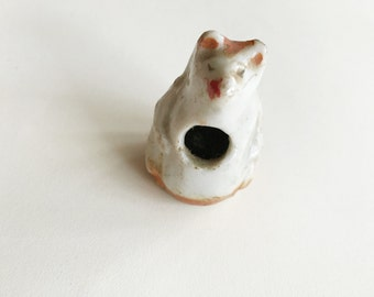 tiny ceramic animal toothpick holder