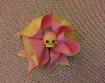 Pink Lemonade bow Medium Head Band or Hair Bow