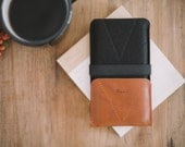 """iPhone 7 Wallet, iPhone 7 Case, iPhone 7 Pouch, leather, wool felt, """"Kangaroo"""""""