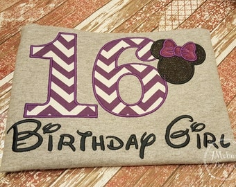 Disney-Inspired Birthday Shirt - 16th - 21st - 40th - 50th - 60th - Custom Birthday Tee 838