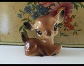 Reserved for Tomay Vintage Plastic Deer Cute Bambi Kitsch