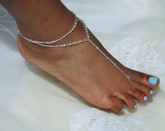 Barefoot Sandals Bridal Jewelry Wedding Foot Jewelry Beach Wedding Anklet Bridesmaids Gift Bridal Foot Thong Barefoot