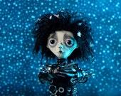 Edward Scissorhands Art Doll - OOAK Tim Burton Doll - Handmade- Doll Artist Cheryl Austin
