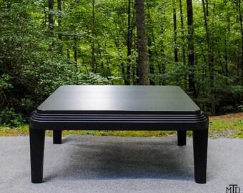 Square 'Deco Era' Coffee Table, Custom Art Deco Furniture, Great Gatsby, Handcrafted Fine Furniture
