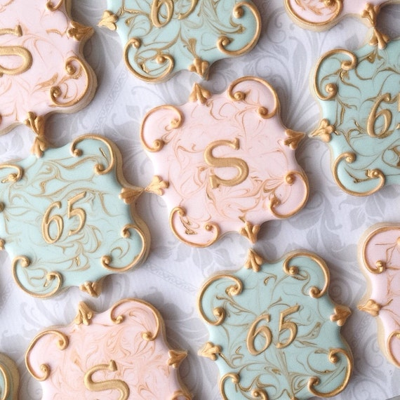 Gorgeous hand decorated sugar cookies