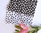 A5 notebook / journal stationery - Black & White animal print