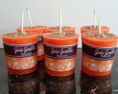 Success Orange Votive  Spell  Candle Dressed with Herbs, Altar Candle, Spiritual Candle, Dressed Candle 4 pack