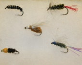 Fly Fishing - Fly Fishing Flies - Combination Pack of 5 Hand-tied Flies - Nymphs, Dry and Wet Flies - Michigan Made Gifts - Valentine's