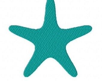Starfish machine embroidery design 4 inch instant download