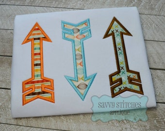 Arrow Trio Applique Embroidery Design