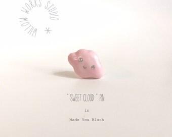 SALE! Sweet Cloud Pin in Made You Blush