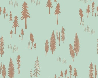 Timberland in Dew - Hello, Bear collection - Art Gallery Fabrics - Fat Quarter, Half Yard or More