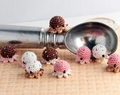 MiniPus (Ice Cream) - Miniature Octopus Amigurumi Doll Plush with Optional Key Chain or Phone Charm Attachment