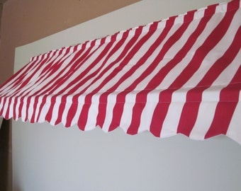 "14 1/2"" High and 71 to 120""  Wide Custom Made Indoor Awning  (Choose from Available Fabrics or Provide Your Own Fabric)"