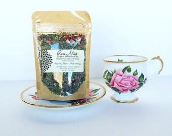 Organic Rose Mint Loose Leaf Herbal  Tea