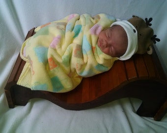 baby furniture photo prop solid cherry and black walnut wood