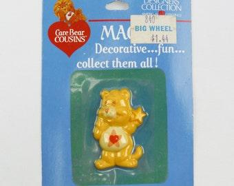 Vintage 80's Care Bears Cousins Proud Heart Cat magnet