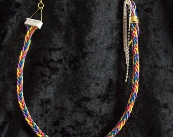 Recycled cable necklace