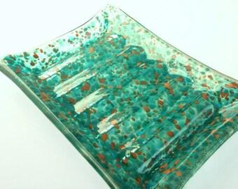 Bathroom Decor - Soap Dish -  Kitchen Decor - Glass Soap Dish